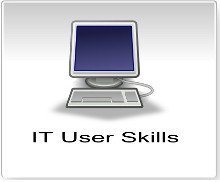 Click here for the assessment criteria for IT User skills