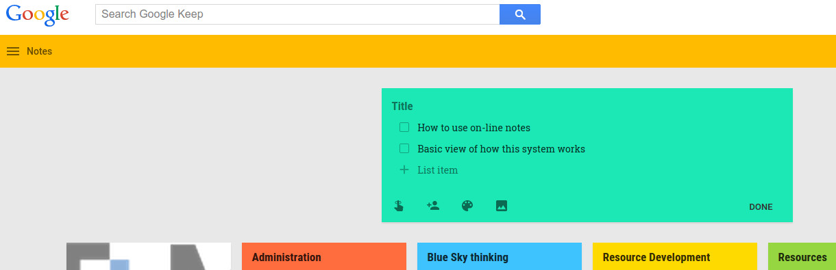 Image of Google Notes
